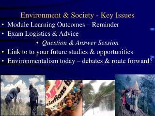 Environment & Society - Key Issues