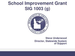 School Improvement Grant  SIG 1003 g