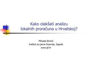 Kako olakšati analizu  lokalnih proračuna u Hrvatskoj?