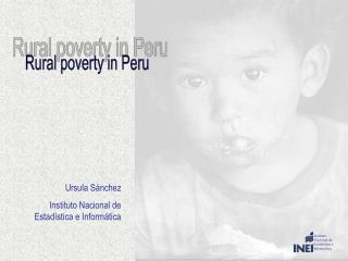 Rural poverty in Peru