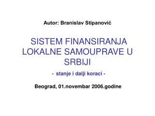 Beograd, 01.novembar 2006.godine