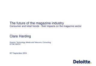 The future of the magazine industry