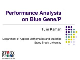 Performance Analysis on Blue Gene/P