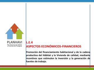 L.E.4  ASPECTOS ECON�MICOS-FINANCIEROS