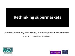 Rethinking supermarkets