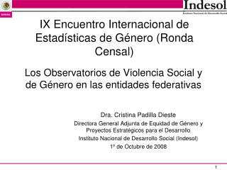 Los Observatorios de Violencia Social y de Género en las entidades federativas