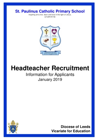 Applying for Headships and Senior Leadership Positions