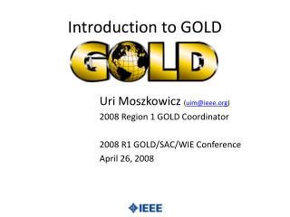 Introduction to GOLD