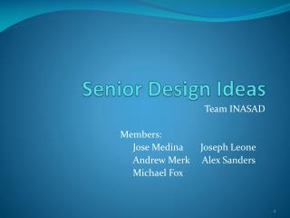 Senior Design Ideas