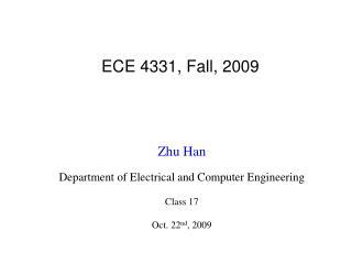 ECE 4331, Fall, 2009
