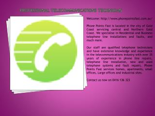 Professional Telecommunications Technician
