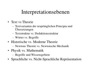 Interpretationsebenen