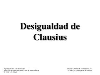 Desigualdad de Clausius