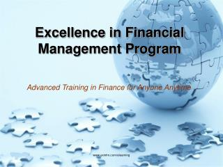 Excellence in Financial Management Program
