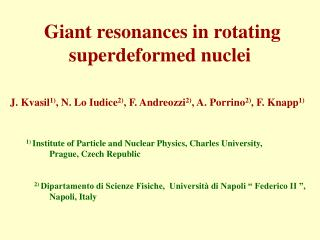 Giant resonances in rotating superdeformed nuclei