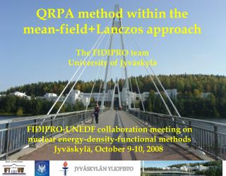 QRPA method within the mean-field+Lanczos approach