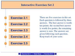 Interactive Exercises Set 2