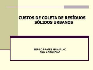 CUSTOS DE COLETA DE RESÍDUOS SÓLIDOS URBANOS