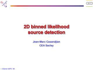 2D binned likelihood source detection