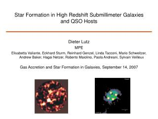 Star Formation in High Redshift Submillimeter Galaxies and QSO Hosts