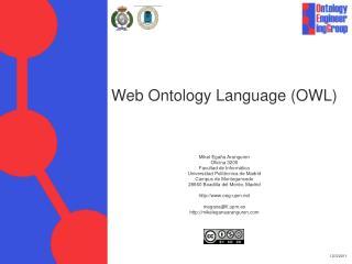 Web Ontology Language (OWL)