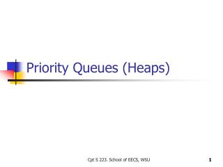 Priority Queues (Heaps)