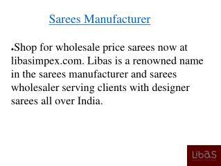 Sarees Manufacturer