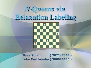 N -Queens via  Relaxation Labeling