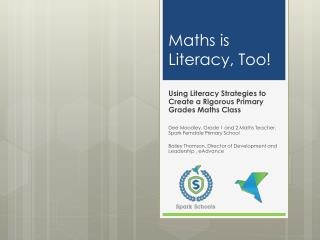Maths is Literacy, Too!