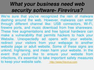 What your business need web security software- Firevirus?