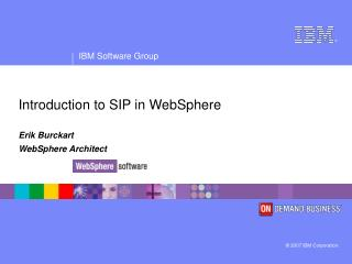 Introduction to SIP in WebSphere