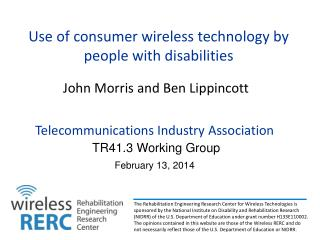 Use of consumer wireless technology by people with disabilities