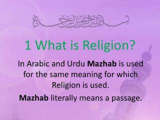 1 What is Religion?