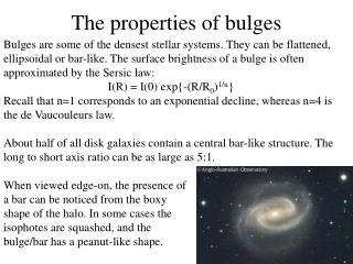 The properties of bulges