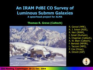 An IRAM PdBI CO Survey of  Luminous Submm Galaxies A spearhead project for ALMA