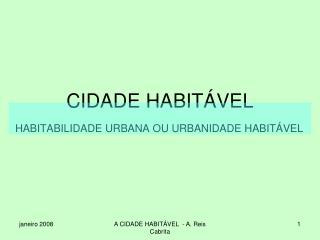CIDADE HABITÁVEL
