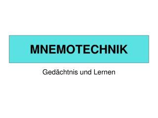 MNEMOTECHNIK