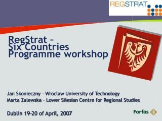 RegStrat –  Six Countries Programme workshop