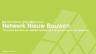 Netwerk Nieuw Bouwen