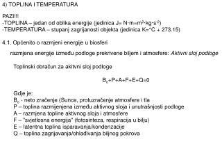 4.1. Općenito o razmjeni energije u biosferi