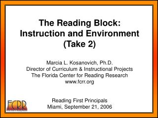 Characteristics of the Reading Block
