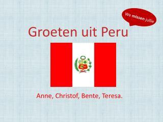 Groeten uit Peru