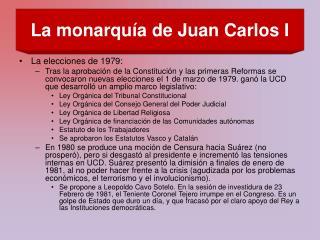 La monarqu a de Juan Carlos I
