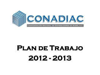 Plan de Trabajo  2012 - 2013