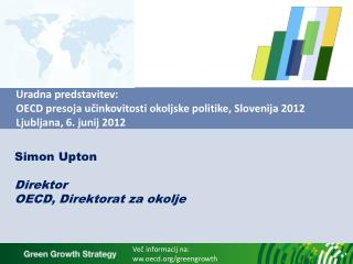 Simon Upton Direktor OECD, Direktorat za okolje