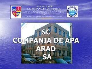SC  COMPANIA DE APA ARAD  SA