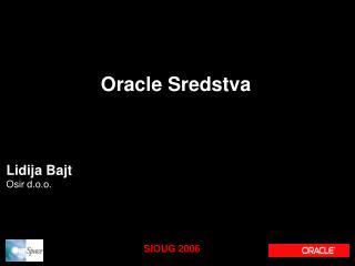 Oracle Sredstva