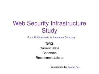Web Security Infrastructure  Study