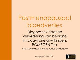 Postmenopauzaal bloedverlies