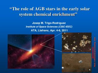 """ The role of AGB stars in the early solar system chemical enrichment """
